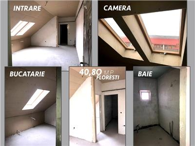 Apartament 1 camere, 40 mp, Floresti